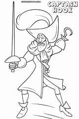 Coloring Captain Hook Cartoon Sofia Colorings sketch template
