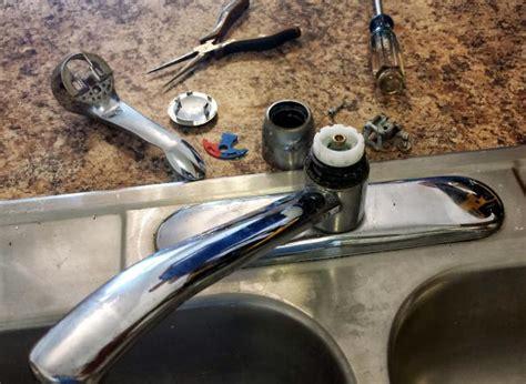 moen kitchen faucet leaks on hot water kitchen faucets