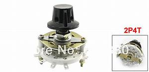 2p4t 2 Pole 4 Throw Position Rotary Switch Band Channel