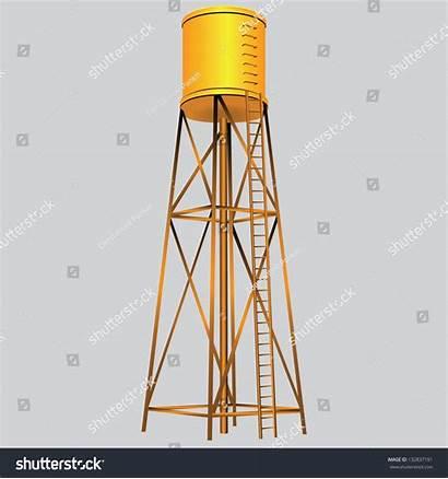 Tank Water Vector Illustration Industrial Construction Shutterstock