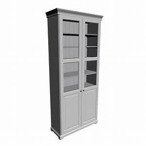 LIATORP Bookcase White With Panelglass Door Design And