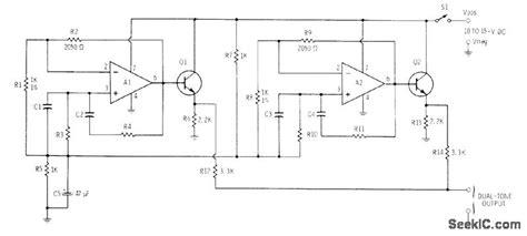 Two Tone Encoder Basic Circuit Diagram