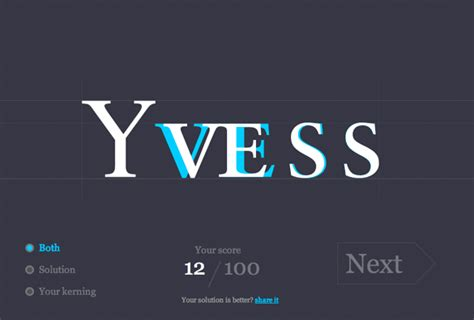 test your type kerning skills with this free kerning game