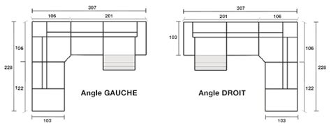dimension canapé angle dimension canape d angle