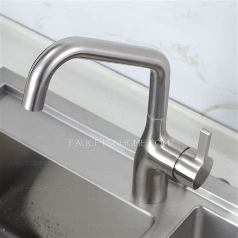 High End Kitchen Faucet by High End Rotatable Stainless Steel Kitchen Faucets Brushed