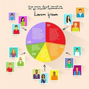 Circle Pie Diagram People Social Media Marketing Stock