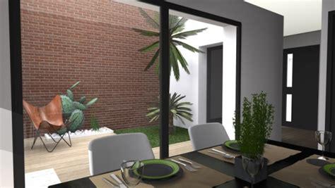 maison contemporaine avec patio interieur maison de ville avec patio