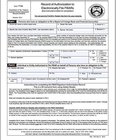 fincen form 114 zakelijke mogelijkheden