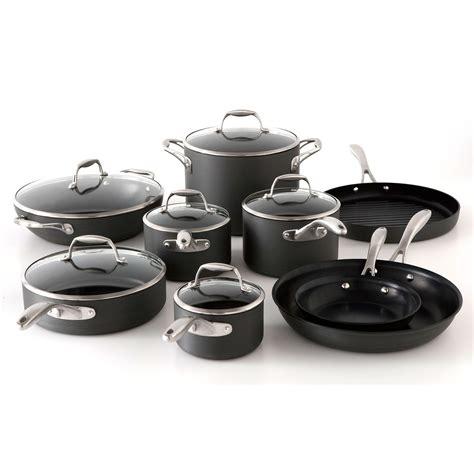 tramontina  piece hard anodized cookware set sams club    great set  pans