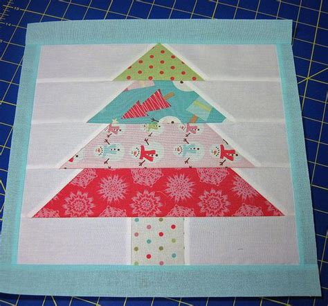 christmas tree quilt block quilting pinterest
