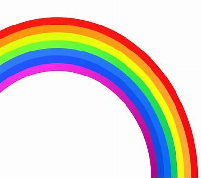 Rainbow Outline Clip Clipart Cliparts Half Clipartix