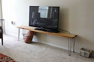 Tv stand bench any table a tutorial sweet verbena for Diy tv table