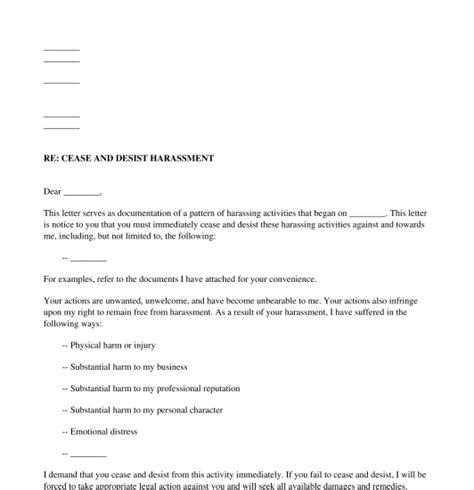 cease  desist letter harassment charlotte clergy