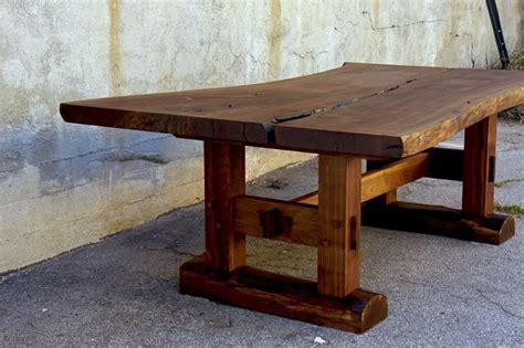 minooka dining table california claro walnut slab top