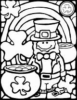 Coloring St Pages Patricks Patrick Sheet Leprechaun Sheets Saint Spring Stained Glass Fun Printable Books Colouring Pop Rainbows Handcuffs March sketch template