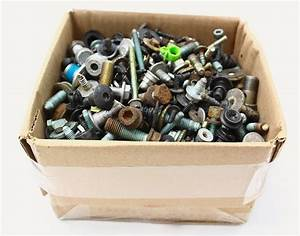 Box Of Bolts Nuts Screws Hardware 27 Lbs 99