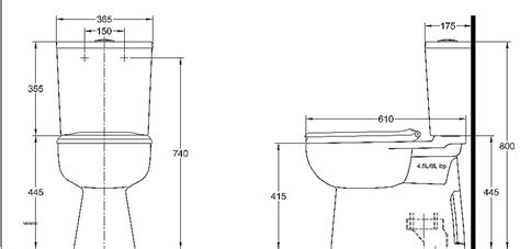 Standard Height Of Water Closet by Well Known Dimensions Of A Water Closet Fy02 Roccommunity