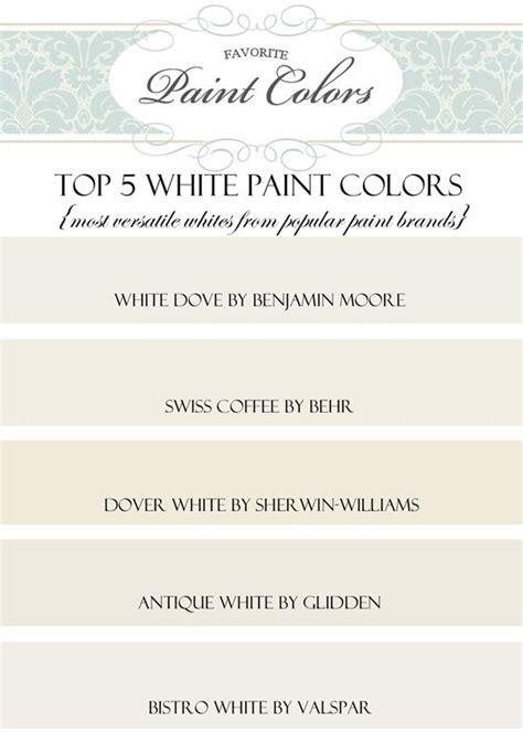 top 5 favorite white paint colors most versatile whites