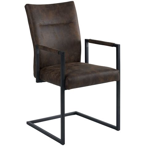 chaise aspect cuir noring