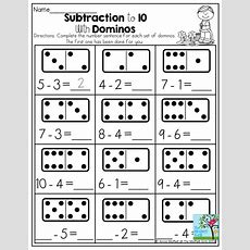 Subtraction To 10 With Dominos Dominos Provide A Tangible