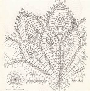 Crochet Pineapple Doilies Diagram