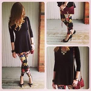 Best 25+ Floral leggings outfit ideas on Pinterest   Floral leggings Falda pantalu00f3n con ...