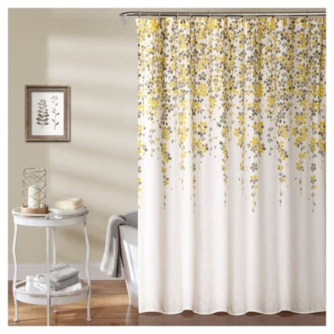 yellow and grey shower curtain weeping flower shower curtain 72 quot x72 quot yellow gray lush