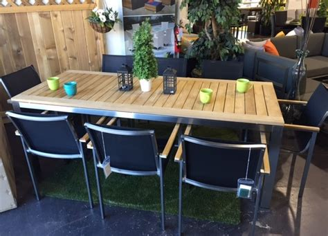 teak dining table outdoor furniture vancouver sofa