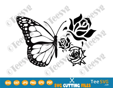 floral butterfly svg butterfly flowers png cut files