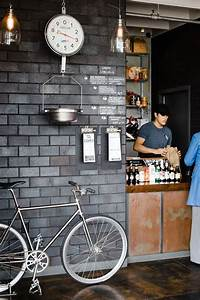 Street style bicycle cafe interior