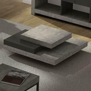 Table Basse Effet Beton : table basse slate design effet b ton ~ Teatrodelosmanantiales.com Idées de Décoration