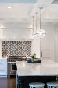hanging lights kitchen island white kitchen with blue gray backsplash tile home bunch interior design ideas