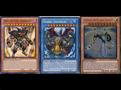 yugioh exodius the ultimate forbidden lord deck most consistent otk exodius gishki zielgigas sephylon