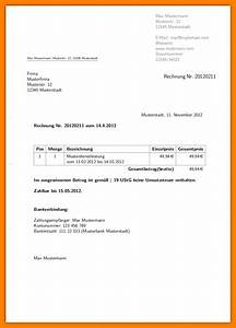 Haarfarbe Bestellen Auf Rechnung : kleinunternehmer rechnung vorlage word kleinunternehmerregelung rechnung vorlage ~ Themetempest.com Abrechnung