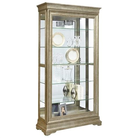 Pulaski Curio Display Cabinet In Black Granite by Pulaski Lyon Curio Cabinet Ebay