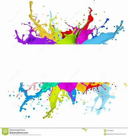 Banner Colorful Splash Effect Background Fresh Abstract