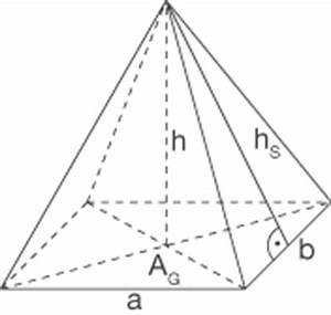 Quadratische Pyramide A Berechnen : pyramide geometrie im raum mathe digitales schulbuch spickzettel ~ Themetempest.com Abrechnung