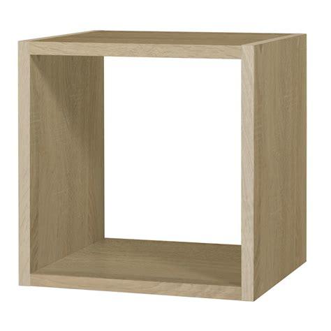meuble tiroir bureau rangement 1 chêne pm rubyx cube etagère tablette