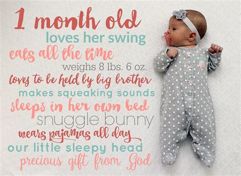 monthly baby stats picture tutorial child  heart blog