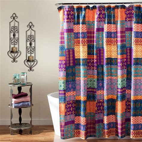 lush shower curtain lush decor misha shower curtain shower curtains at hayneedle