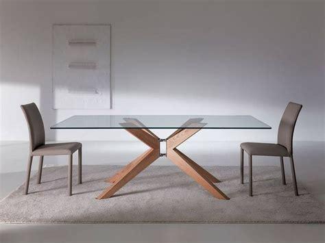 tavoli di cristallo sala da pranzo tavolo da pranzo con piano in cristallo o legno e