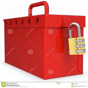Boite Avec Cadenas : bo te 3d verrouill e rouge avec le cadenas d 39 or illustration stock image 39776202 ~ Teatrodelosmanantiales.com Idées de Décoration