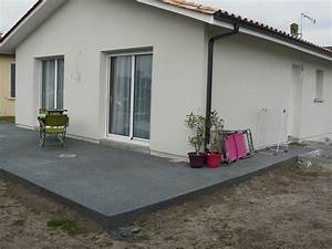 terrasses qualipermea With terrasse en beton colore