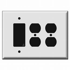 Oversized 2 Duplex Outlet 1 Decora Rocker Switch Outlet Covers