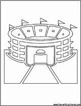 Coloring Stadium Pages Baseball Field Cutout Printable Mlb Cutouts Template Fan Popular Diamond sketch template