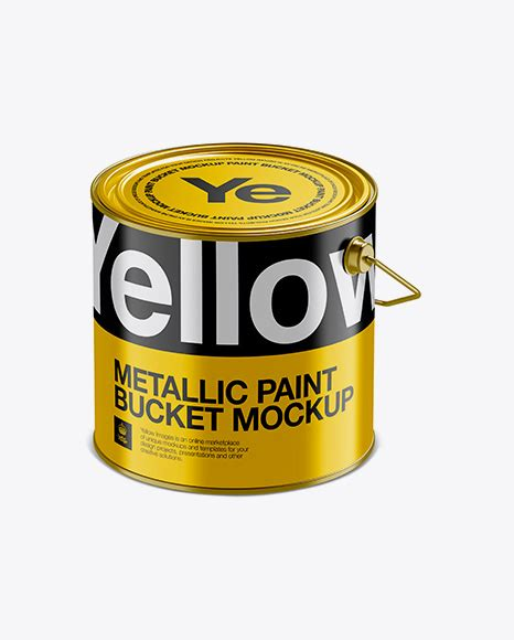 Dear visitor, you went to the site as unregistered user. 20L Metallic Paint Bucket Mockup - 3L Glossy Metallic ...