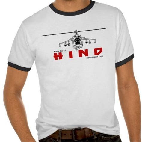 Mil Mi-24 Hind Russian Air Force Attack Helicopter T-shirt