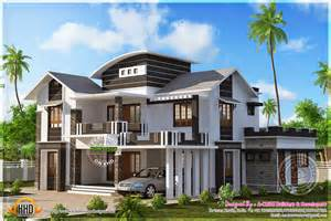 two story house plans with front porch 2601 square modern mix house kerala home design and