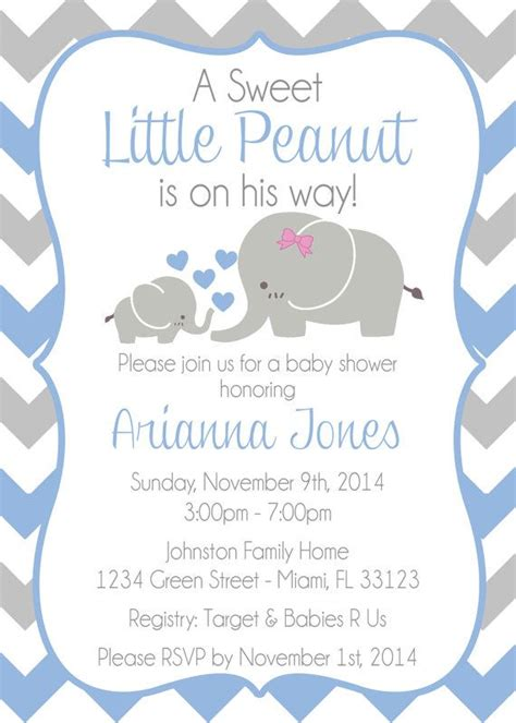 baby shower elephant template baby shower invitation templates baby shower invitations