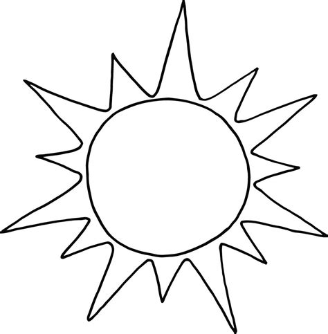 sun coloring page printable  preschool coloring point